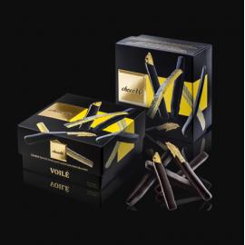 Voilé - Coajă de lămâie spaniolă glasată, învelită în ciocolată neagră 120g
